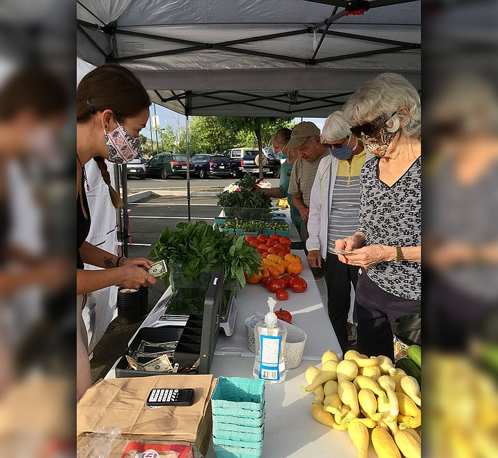 Each Wednesday from 2:30 to 5:30 p.m., customers can find a variety of fresh vegetables, grass-fed beef, eggs, flowers, baked goods, ice cream, coffee, and prepared foods like burritos, tamales, and samosas, and other local goods at Prescott Farmers Market, 119 W. Goodwin St. (Courier, file)