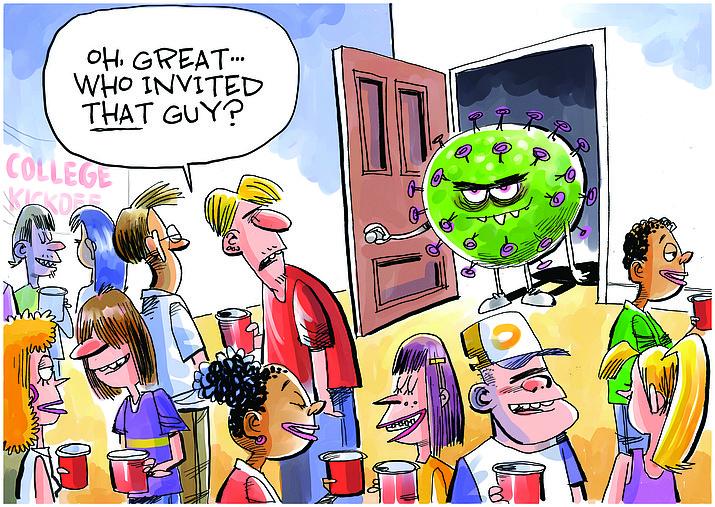 Editorial cartoon (2): Sept. 1, 2020