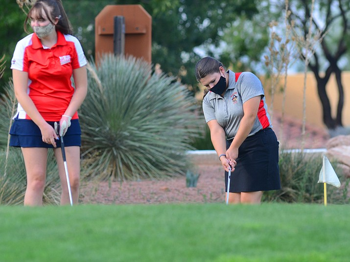 Returning players from last year's successful Mingus Union High School team, including  Suzy Tanner, left, and Haley Rosenberg are key to the success of this year's team. VVN/Vyto Starinskas