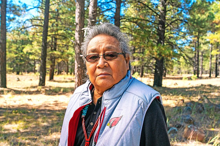 Leigh Kuwanwisiwma is from the Hopi village of BAcavi on Third Mesa. Kuwanwisiwma said the Grand Canyon is a spiritual place for the Hopi people and is where they first emerged into this world and where spirits return. (Photo by Deidra Peaches, courtesy of Grand Canyon Trust)