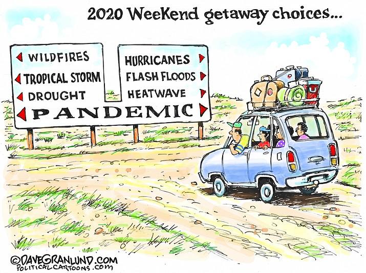 Editorial cartoon (1): Sept. 2, 2020