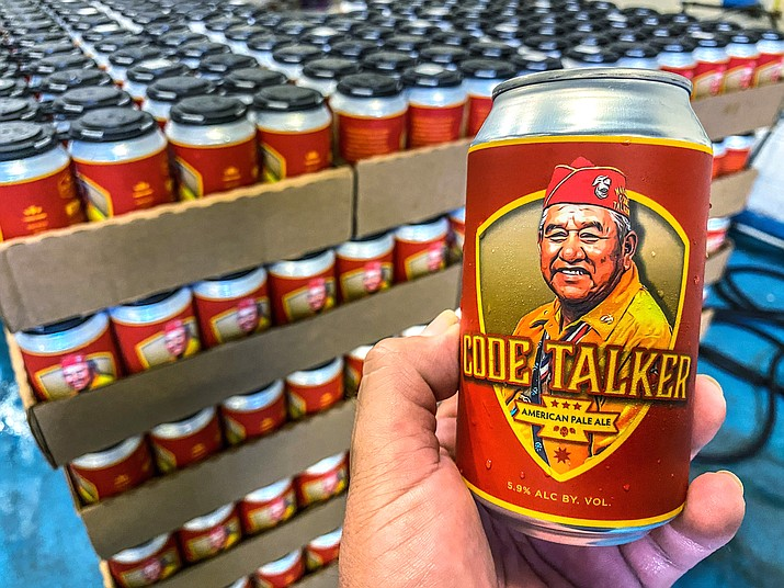 In honor of National Navajo Code Talkers Day the craft brewery recently rereleased its Code Talker American Pale Ale, this time in a can, drawing some rave reviews but also backlash. (LT Goodluck via AP)