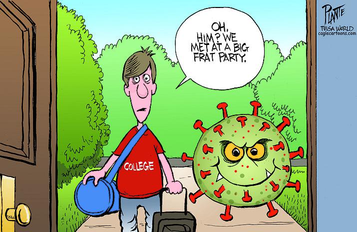 Editorial cartoon (1): Sept. 3, 2020
