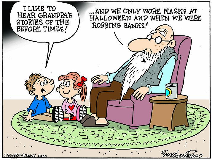 Editorial cartoon (2): Sept. 7, 2020