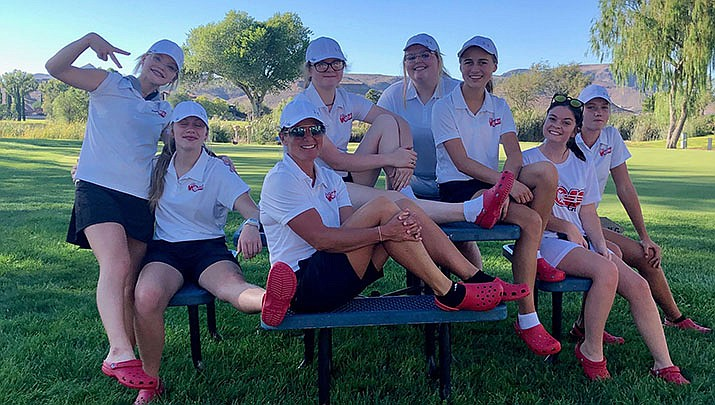The 2020-21 Lee Williams High School girls golf team is shown above. (Courtesy photo)
