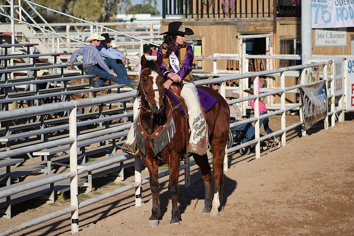 Shai Forman rides her horse at a rodeo - one of many she has been to in 2019-20. (Courtesy photo)