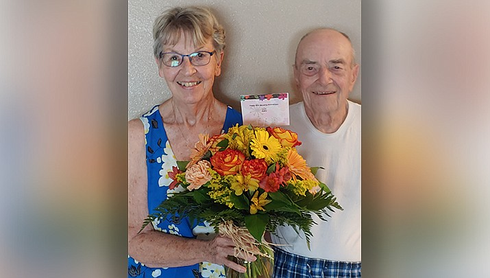 "Eunice and Richard ""Skip"" Perschke celebrated their 65-year wedding anniversary on Sept. 3, 2020. (Courtesy photo)"