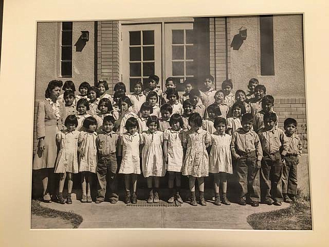 Elementary school students pose for their class picture in 1951 at the Phoenix Indian School. While other parts of the school lived on, the elementary school closed in the 1960s. It is now part of the Phoenix Indian School Visitor Center, which tells the story of the school. (Photo courtesy Heard Museum Billie Jane Baguley Library and Archives)