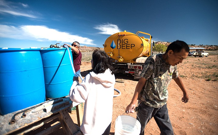 One in three Navajos living on the reservation lack sinks and toilets, according to DigDeep's Navajo Water Project. That's a big reason former NFL standout Chris Long is working with the organization. (Photo courtesy DigDeep)