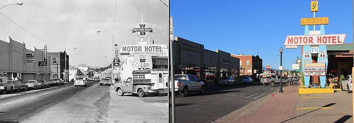 The downtown area of Williams has stayed relatively unchanged since the peak of Route 66 in the 1950s. (Photos/Williams Historic Photo Archives/Wendy Howell)