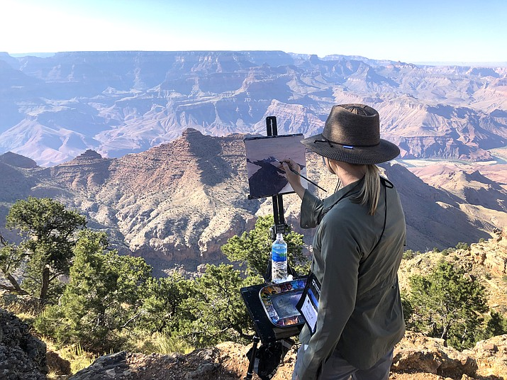 The 12th annual Celebration of Art takes place both on-site at Grand Canyon National Park and online Sept. 4-January 18, 2021. (Photo/Celebration of Art, Grand Canyon Conservancy)