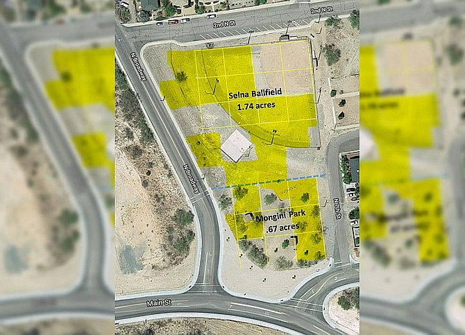 This is a basic image is of Selna-Mongini Park, which now has a master plan to be more fully developed. It's one of the projects the Town of Clarkdale hopes to make progress on — and obtain matched grant funding for — in the months ahead. VVN file