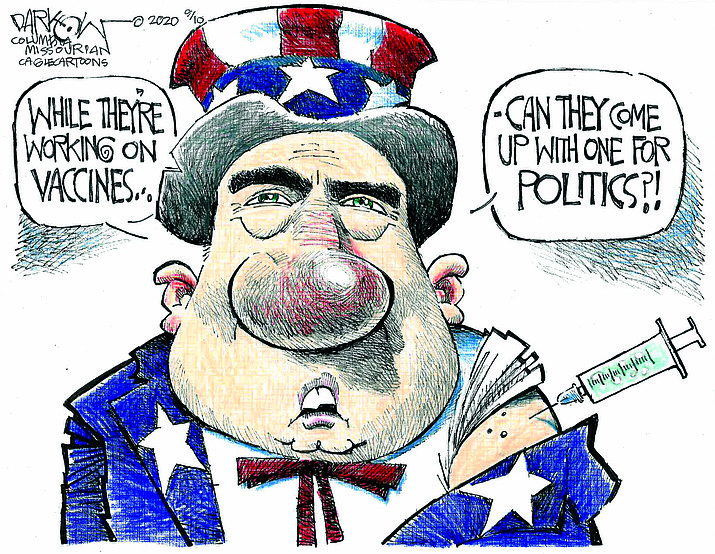 Editorial cartoon (1): Sept. 13, 2020