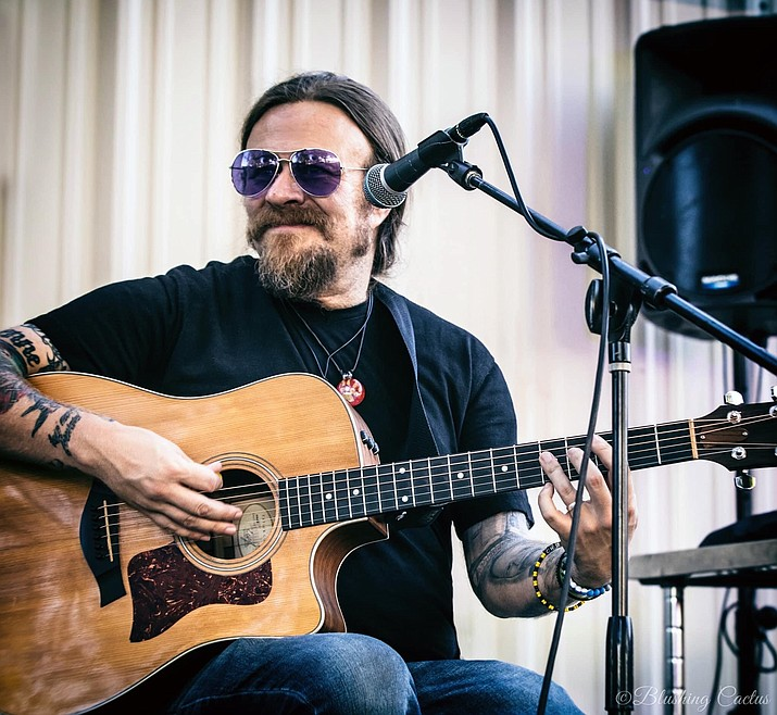 Professional guitarist Drew Hall has become a mainstay of Prescott's music scene and also offers guitar lessons at the Prescott Arts & Entertainment Music Studio. (Blushing Cactus Photography/Courtesy)