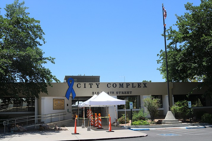 Kingman City Council will decide on Tuesday, Sept. 15 if masks will be required to enter businesses in the city due to the coronavirus. The city office complex is shown above. (Photo by Travis Rains/Kingman Miner)