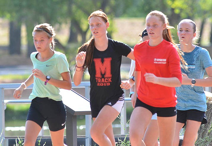 The Mingus Union girls cross  country team returns five of the seven runners that finished ninth in the state last year. They include Maisie Babcock, Aubrey and Claire Peterson, Makena Bliss and Safiya Sweeney. VVN/Vyto Starinskas
