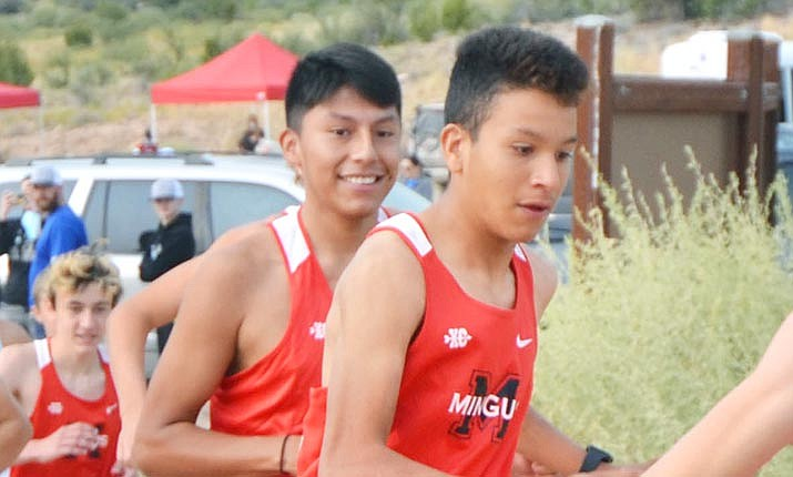 Junior Retief Tapija (left) and sophomore Cesar Diaz are among the key returners for this year's Mingus boys cross country team. VVN/Vyto Starinskas