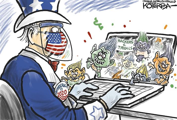 Editorial cartoon (2): Sept. 15, 2020