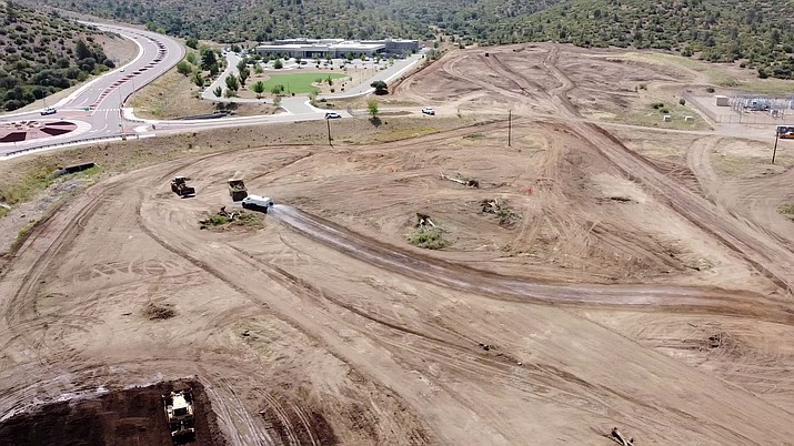 Dirt work began recently at the site of the new Prescott jail. The Yavapai County Board of Supervisors agenda for Wednesday, Sept. 16, 2020, includes a possible approval of a $22,000 line extension and trenching agreement with Arizona Public Service (APS). (Courier file photo)