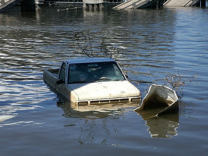Flooding is shown in Biloxi, Mississippi after Hurricane Katrina in 2005. Hurricane Sally is currently threatening the area. (Photo by Daniel Lobo, cc-by-sa-1.0, https://bit.ly/33wFdL9)