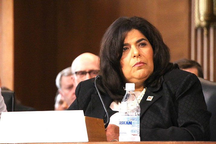 Coconino County Supervisor Liz Archuleta joined local government officials from around the country Sept. 9 to urge Congress to fully fund the Payment in Lieu of Taxes and Secure Rural Schools programs. The special payments to counties with large amounts of nontaxable federal land are vital in states like Arizona.  (Julian Paras/Cronkite News)