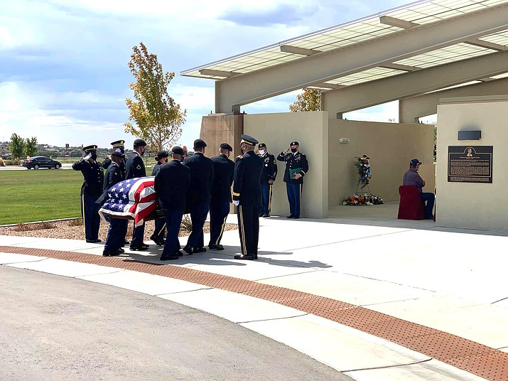 U.S. Army PFC Carlton Lane Chee is laid to rest at the National Veterans Cemetery in Gallup, New Mexico Sept. 15.