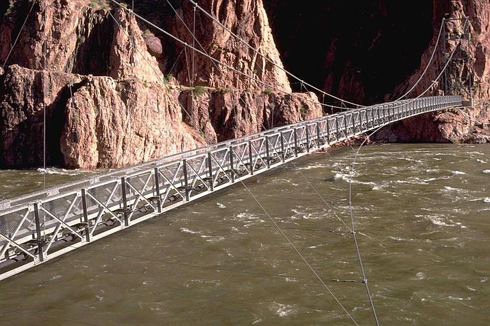 The Silver Bridge spans across the Colorado River near Phantom Ranch. (Photo/NPS)