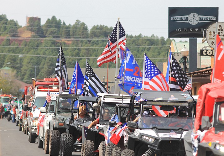 Over 80 entrants participated in the Patriot Day parade in Williams Sept. 12. (Wendy Howell/WGCN)