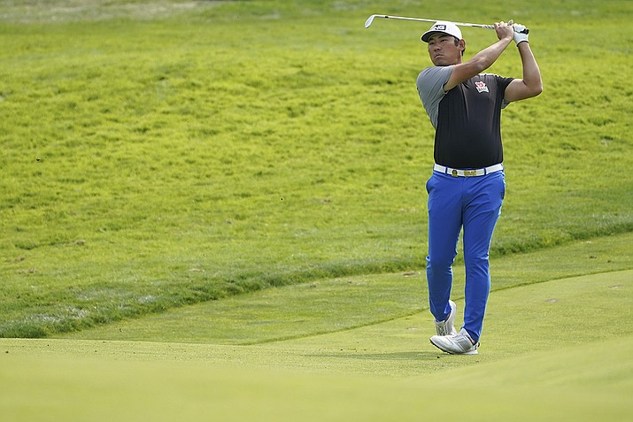 Chan Kim plays a shot on the 11th fairway during practice for the U.S. Open Championship golf tournament at Winged Foot Golf Club, Wednesday, Sept. 16, 2020, in Mamaroneck, N.Y. (John Minchillo/AP)