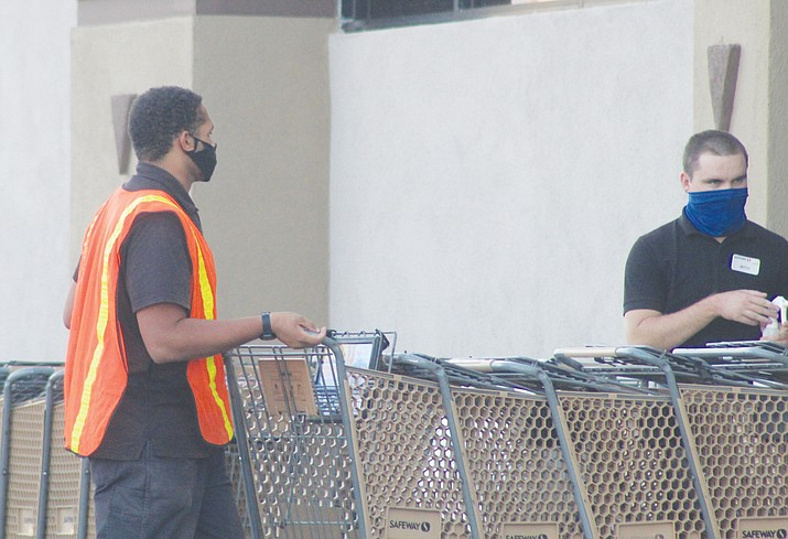 Face coverings will remain mandatory for entering businesses in Kingman for those age 6 and older through at least Oct. 20. (Photo by Casey Jones/Kingman Miner)