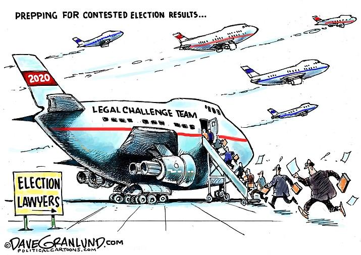 Editorial cartoon (2): Sept. 21, 2020