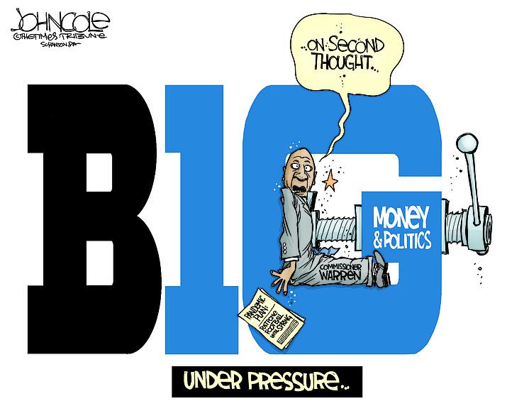 Editorial cartoon (1): Sept. 21, 2020
