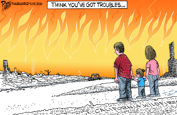 Editorial cartoon (1): Sept. 20, 2020