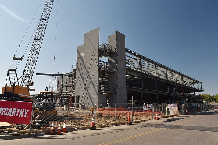 Work continues on Yavapai Regional Medical Center's additions to its West Campus. (Jesse Bertel/Courier)