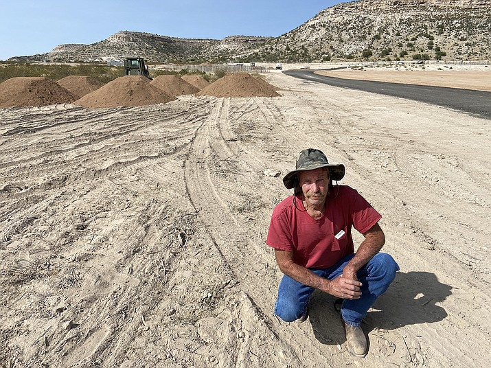 Randy Ricketts, pictured at the site of the new Verde Valley Raceway, on the grounds of the Camp Verde Arena Association's equestrian center. Rickets is president of the Northern Arizona Karting Alliance. VVN/Bill Helm