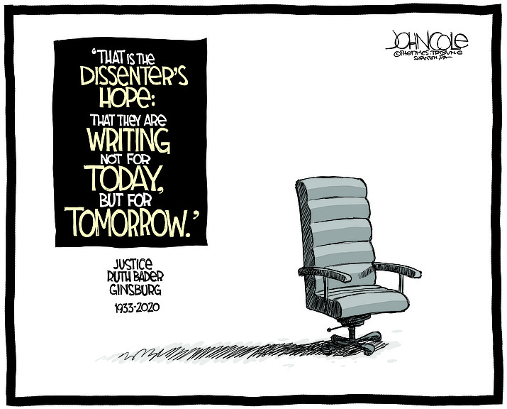 Editorial cartoon (1): Sept. 23, 2020