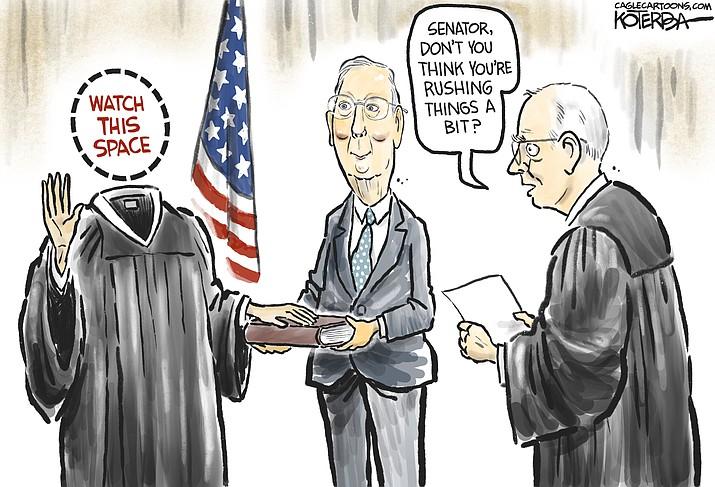 Editorial cartoon (2): Sept. 24, 2020
