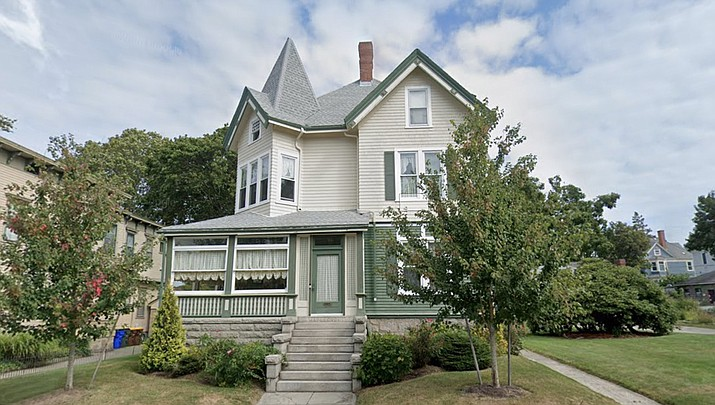 Lizzie Borden was acquitted of killing her father and stepmother with an ax in 1892. In 1893 she moved into this home at 306 French St. in Fall River, Massachusetts with her sister. The killings were never officially solved. (Google)