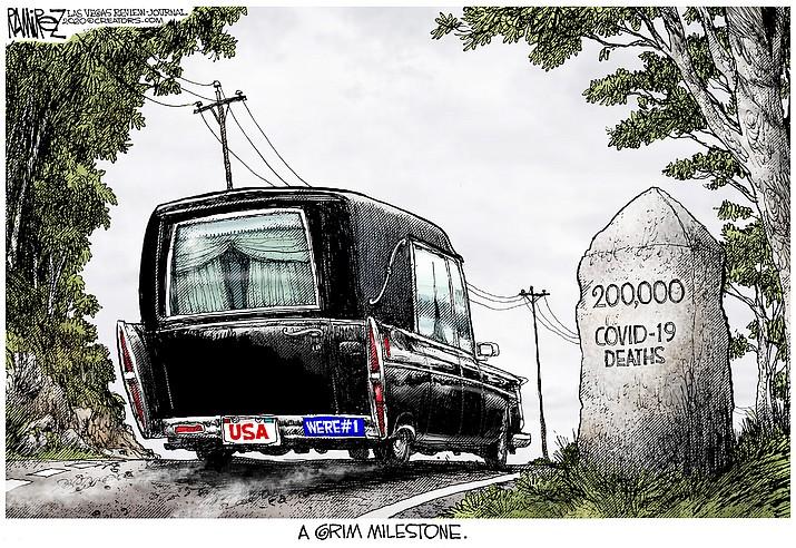 Editorial cartoon (2): Sept. 25, 2020