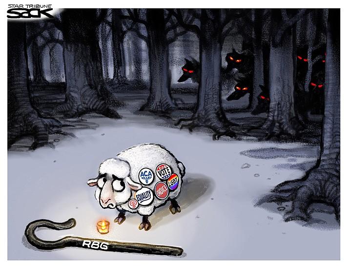 Editorial cartoon (1): Sept. 27, 2020
