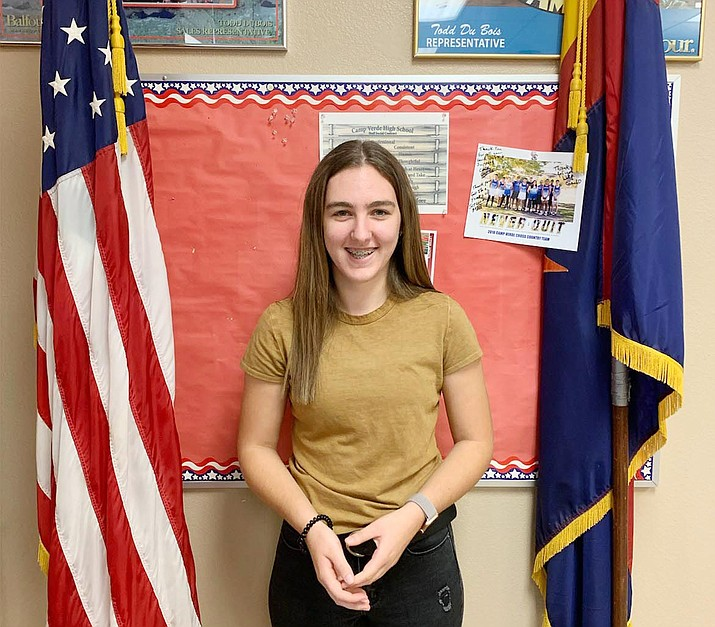 Camp Verde High School senior Audrey Norman is the school's Kiwanis Student of the Month for September. Photo courtesy of Camp Verde High School