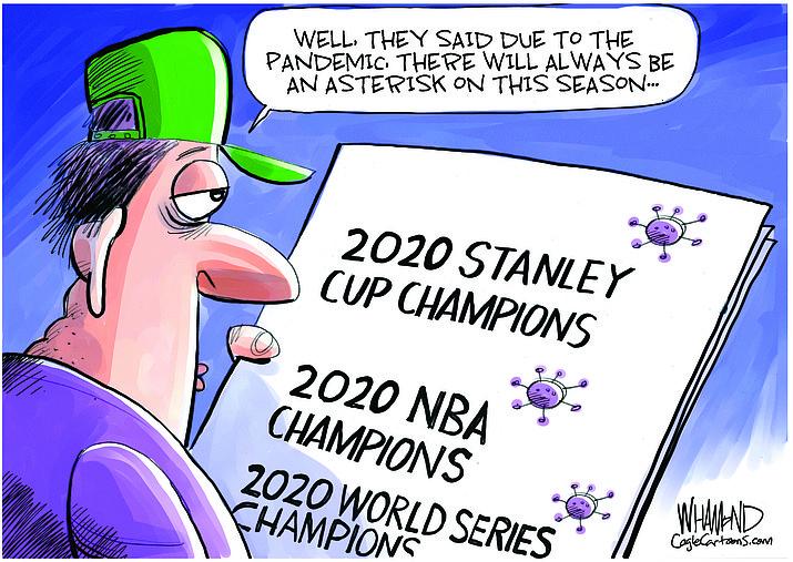 Editorial cartoon (1): Sept. 29, 2020