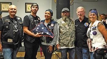 Code Talker flag honors Native American veterans, service members photo