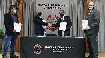 Navajo Tech, New Mexico Tech agree to focus on improved access to water on rez photo