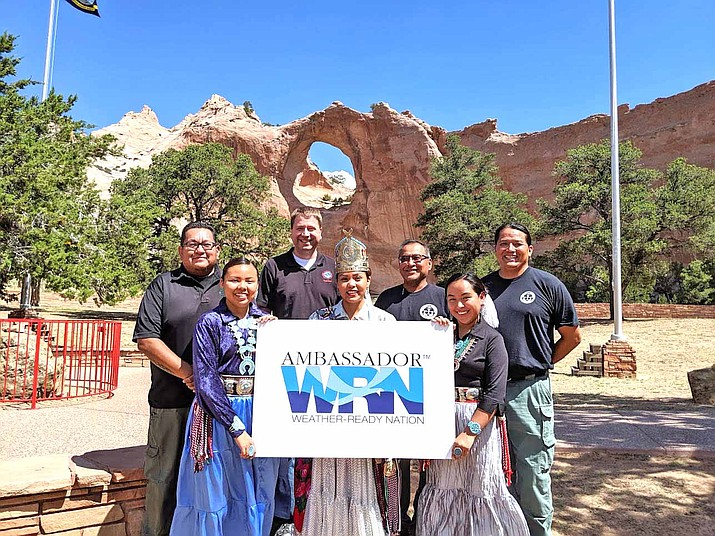 The Navajo Department of Emergency Management (NNDEM) was selected as the 2020 Weather-Ready Nation Ambassador of Excellence by the National Weather Service. NNDEM provides citizens of the Navajo tribe with prompt and reliable service for police, fire, and emergency medical logistical support and coordinates major emergency response. (Photo/National Weather Service)