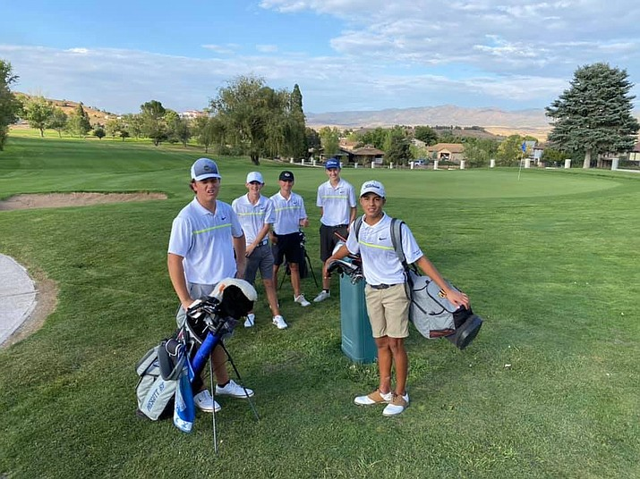 The Prescott boys golf team won its match against Bradshaw Mountain and Centennial Wednesday, Sept. 23, 2020, at the Prescott Country Club in Dewey. (Dan Osterloh/Courtesy)