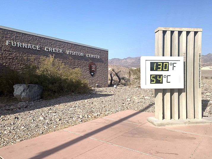 Furnace Creek reached 130 degrees Aug. 16, the hottest temperature recorded in the park since 1913. (NPS photo by J. Jurado)