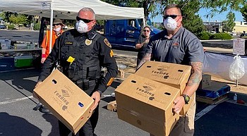 Prescott Valley Police distributing free food boxes Oct. 2 photo