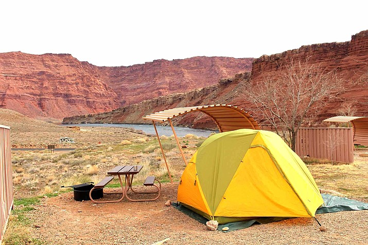 Lees Ferry Campground is located in northern Arizona on the Colorado River. (NPS photo)