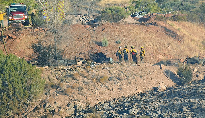With the assistance of the U.S. Forest Service, Arizona State Lands, the Verde Valley and Sedona fire districts, multiple air resources and community support, Copper Canyon Fire District crews were able to contain the Sept. 25 Creosote Fire at 124 acres. VVN/Vyto Starinskas